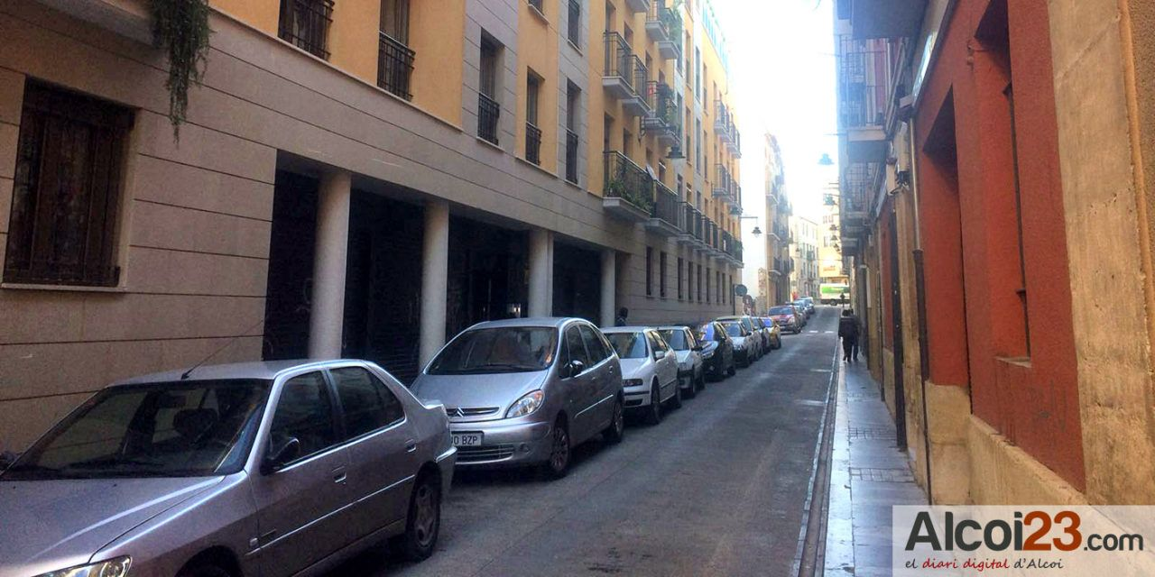 Cs de Alcoy advierte que la demora de las obras de la calle San Jaime podrían perjudicar al comercio en la campaña de Navidad