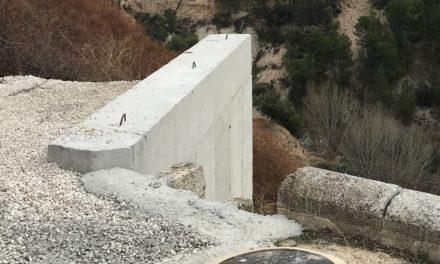 Reconstrueixen el mur de contenció de la Carretera del Molinar