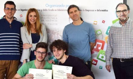 """Joan Pascual y Alex Payá del IES Cotes Baixes ganan el VII Concurso de Programación AppInventor modalidad """"B"""""""