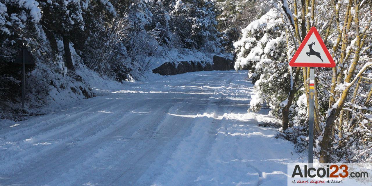 La Generalitat decreta emergencia por nevadas nivel cero en L'Alcoià