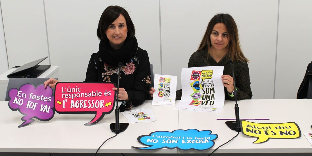 Alcoi diu 'No és No', campanya contra les agressions sexistes
