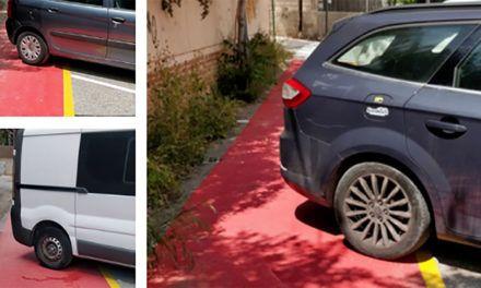 Guanyar reclama la instal·lació de barreres al pas de vianants de l'inici d'Escultor Peresejo