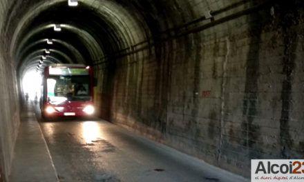 A partir del dilluns els autobusos deixaran de passar pels túnels de Batoi