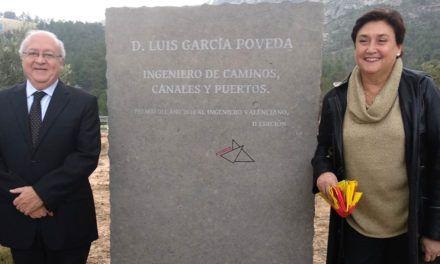 Un monolito homenaje para el ingeniero Luis García Poveda