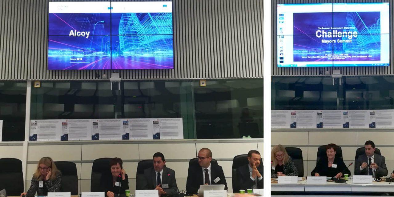 Alcoi participa a una cimera de ciutats digitals a Brussel.les