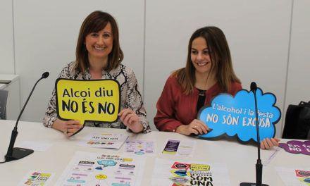 Alcoi repeteix per Festes la campanya 'Alcoi diu NO és NO. Contra les agressions sexistes som una veu'