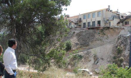 Les obres consolidació del talús del riu Riquer finalitzaran a finals de setembre