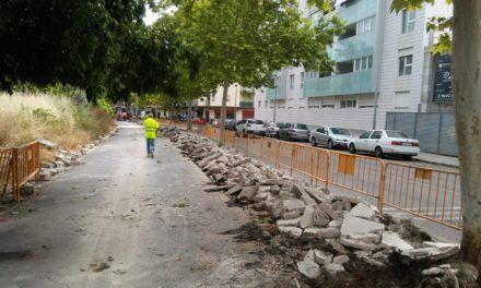 Avancen les obres de l'eix per a ciclistes i vianants de la cornisa nord d'Alcoi