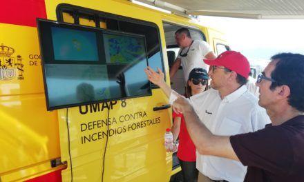 La coordinació aérea contra els incendis forestals es prova a Alcoi