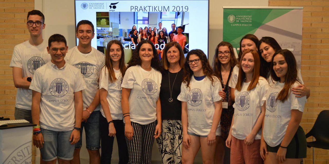 10 centros educativos de 8 municipios participan en el Praktikum 2019 del Campus de Alcoy de la UPV