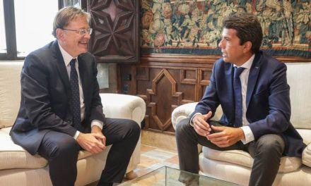 La Generalitat y la Diputación de Alicante crearán una comisión mixta para abordar asuntos de interés común