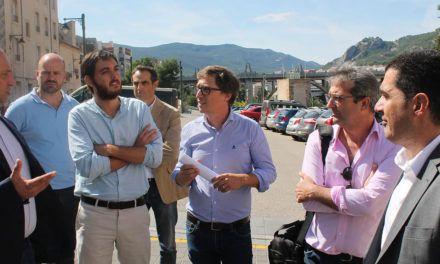 Dalmau asegura que las obras que se están desarrollando en Alcoi convierten a la ciudad en 'un referente de regeneración urbana'