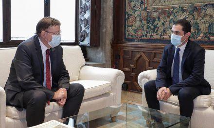 Toni Francés es reuneix a València amb el president de la Generalitat