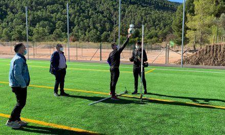 La gespa artificial del camp de futbol de l'ampliació del Francisco Laporta passa les proves de qualitat