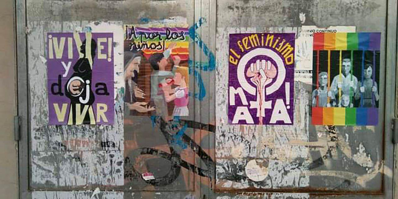 Ponts d'igualtat comunica a la inspecció educativa la denuncia sobre els cartells antifeministes i homòfobs apareguts a Alcoi