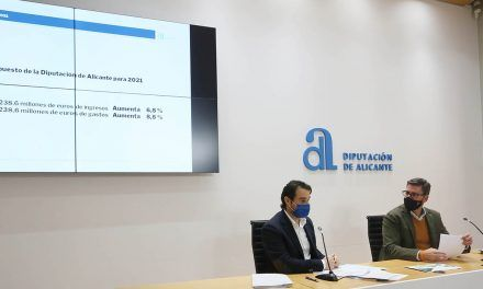 El presupuesto de la Diputación para 2021 sube un 9% hasta los 238 millones de euros y refuerza el apoyo a los municipios para atender las necesidades del Covid-19