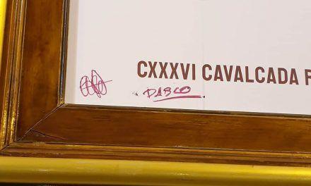 Identificat l'autor de les pintades en el cartell anunciador de la Cavalcada
