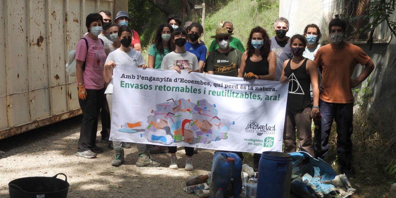 La Jornada de Neteja del Riquer aconsegueix traure del riu més de 530 kg de residus