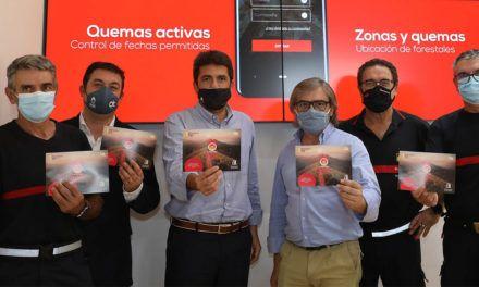 Los bomberos de la Diputación, pioneros en el uso de una app para controlar y monitorizar quemas agrícolas