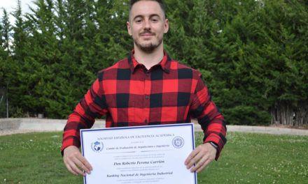VÍDEO | Roberto Perona, alumne del Campus d'Alcoi de la UPV, en el Top 20 dels estudiants excel·lents d'Espanya